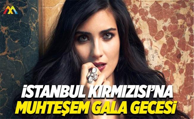 İstanbul Kırmızısı galasında Tuba Büyüküstün güzelliği