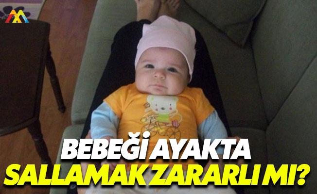 Bebeğinizi ayağınızda sallayarak uyutmayın
