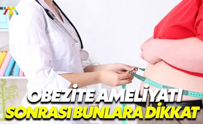 Obezite ameliyatı sonrası yapılması gerekenler
